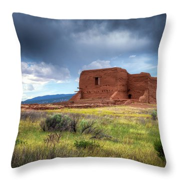 Pecos National Historical Park Throw Pillow by James Barber