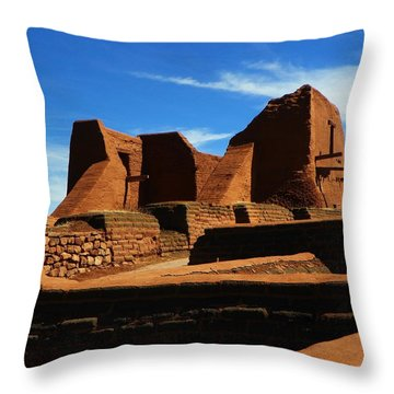 Pecos New Mexico Throw Pillow by Joseph Frank Baraba