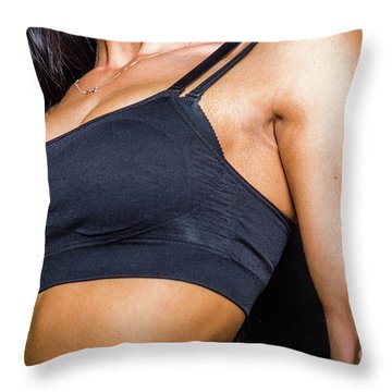 Pectorals Throw Pillow