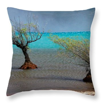 Peculiar Trees Throw Pillow