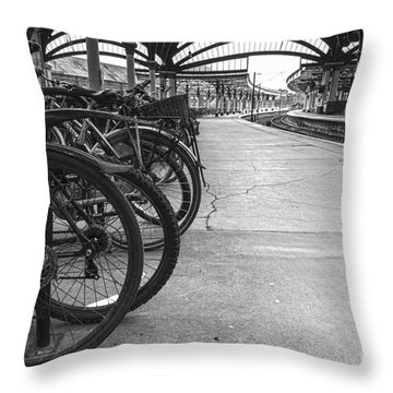 Pedal Power Park Throw Pillow