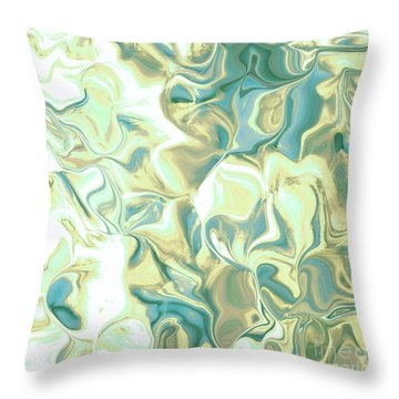 Pedals Green-blue Throw Pillow