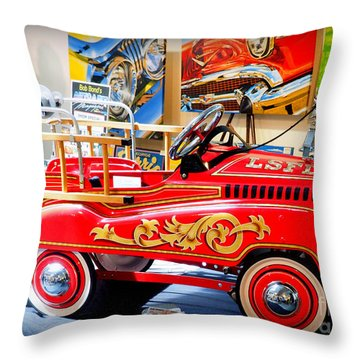 Peddle Car 1 Throw Pillow