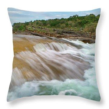 Pedernales Falls Throw Pillow by Tim Fitzharris