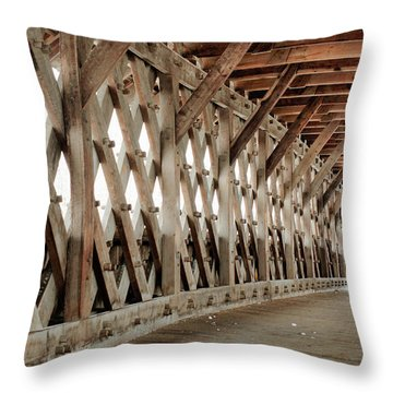 Pedestrian Bridge Guelph Ontario Throw Pillow