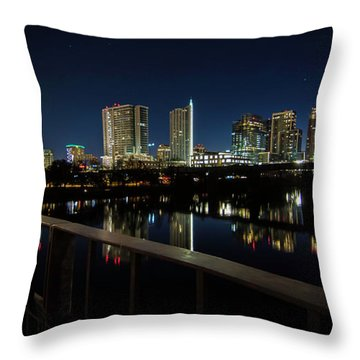 Pedestrian Bridge View Throw Pillow