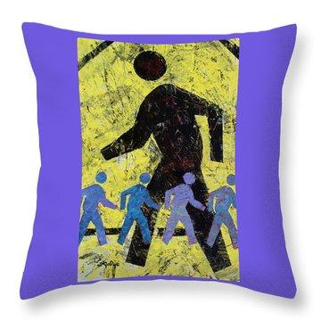 Pedestrian Throw Pillow