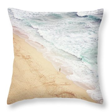 Throw Pillow featuring the photograph Pedn Vounder by Lyn Randle