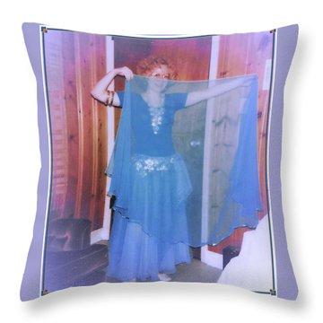 Throw Pillow featuring the photograph Peek-a-boo Dancer by Denise Fulmer