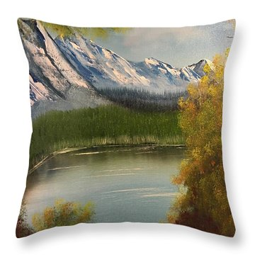 Peek-a-boo Mountain Throw Pillow