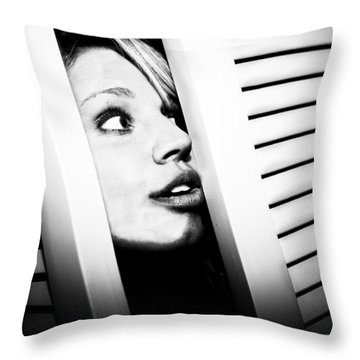 Throw Pillow featuring the photograph Peek-a-boo by Ryan Smith