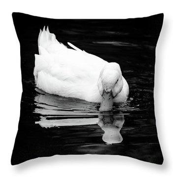 Peek-ing Duck Throw Pillow