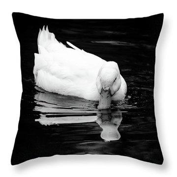 Peek-ing Duck Throw Pillow