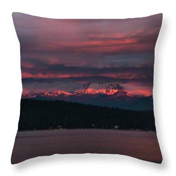 Peekaboo Sunrise Throw Pillow