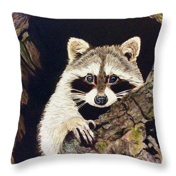 Peeking Out Throw Pillow