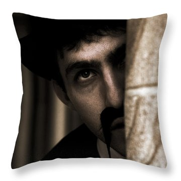 Peeking Pastor Pillar Throw Pillow