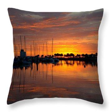 Peeking Sun Throw Pillow