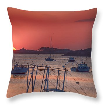 Peeking Sunrise Throw Pillow