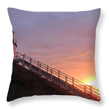 Peeking Sunrise Throw Pillow