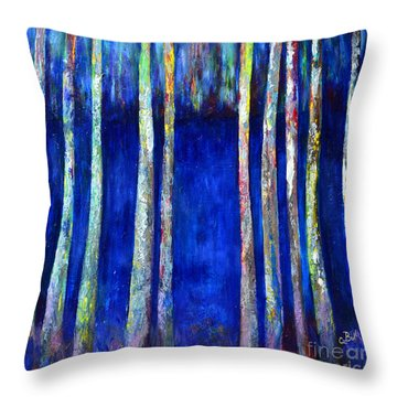 Peeking Through The Trees Throw Pillow