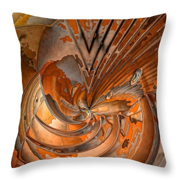 Peeled Throw Pillow by Ron Bissett
