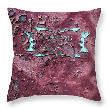 Throw Pillow featuring the photograph Peeling Door Abstract by Stuart Litoff