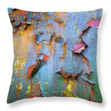 Peeling Paint And Rust Textures 135 Throw Pillow