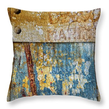 Peeling Paint And Rusty Metal Throw Pillow