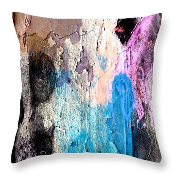 Peeling Paint Throw Pillow by Jessica Wright