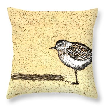 Peep Throw Pillow by Charles Harden
