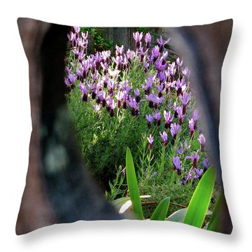 Peephole Garden Throw Pillow