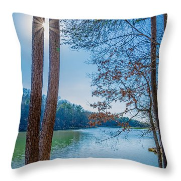 Peeping Sun Throw Pillow