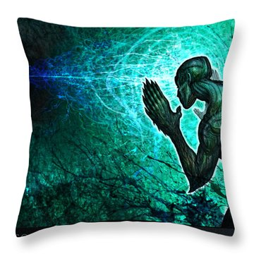 Peering Into The... Throw Pillow by Tony Koehl