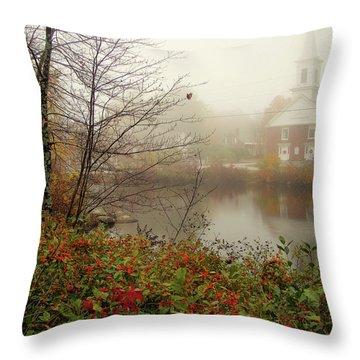 Foggy Glimpse Throw Pillow
