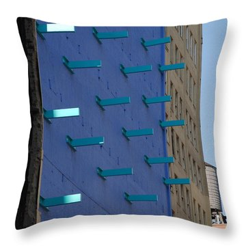 Peg Board Throw Pillow by Rob Hans