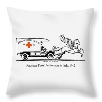 Pegasus At Work For The Allies Throw Pillow