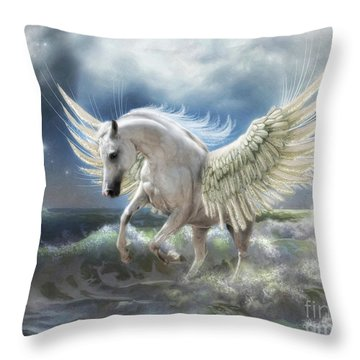 Pegasus Rising Throw Pillow