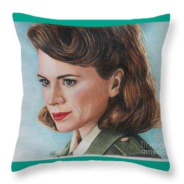Peggy Carter Throw Pillows