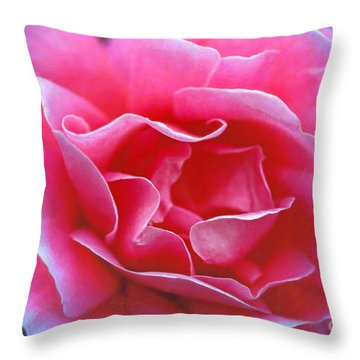 Throw Pillow featuring the photograph Peggy Lee Rose Bridal Pink by David Zanzinger