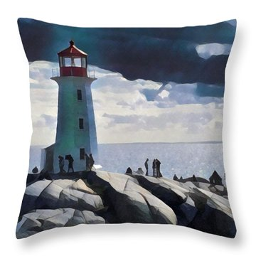 Peggy Painting Throw Pillow