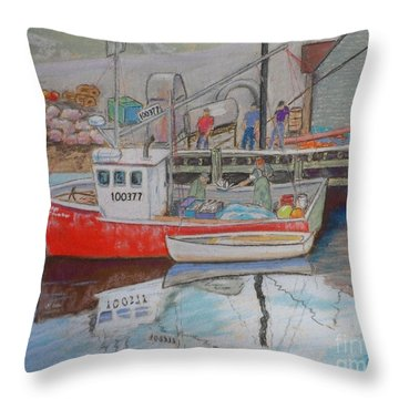Peggy's Cove  Fishermen Throw Pillow
