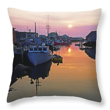 Peggy's Cove, Nova Scotia, Canada Throw Pillow