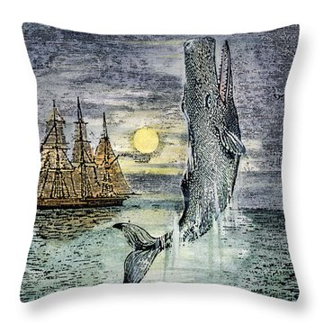 Pehe Nu-e: Moby Dick Throw Pillow by Granger
