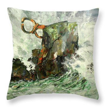 Peine Del Viento Throw Pillow by Koro Arandia