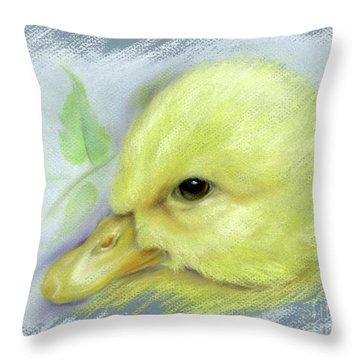 Pekin Duckling Portrait Throw Pillow