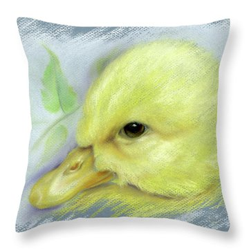 Pekin Duckling Portrait Throw Pillow