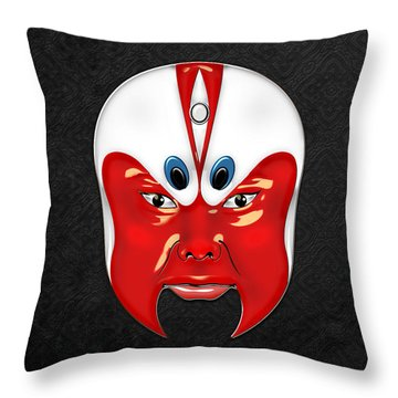 Peking Opera Masks - Wen Zhong Throw Pillow