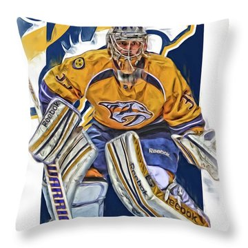 Pekka Rinne Nashville Predators Throw Pillow
