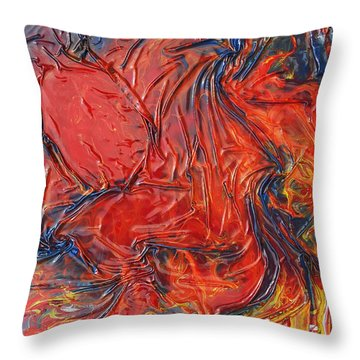 Pele Throw Pillow by Angela Stout