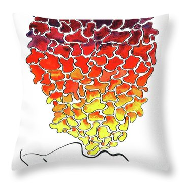 Pele Dreams Throw Pillow by Diane Thornton